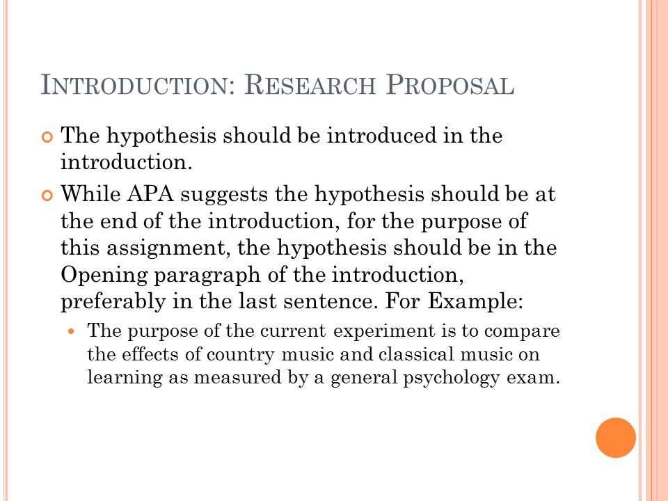 hypothesis examples for research proposal Research and career development grant applications rick mcgee, phd research proposals 1 a scientist comes up with a research question, an hypothesis to test asking and the hypothesis you are testing.