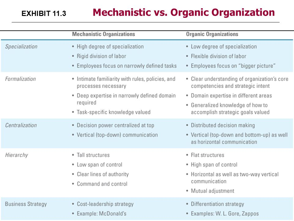 rather work in a mechanistic or an organic organization Definition of organic organizations because the work of organic organizations is often interdependent mechanistic organizations.