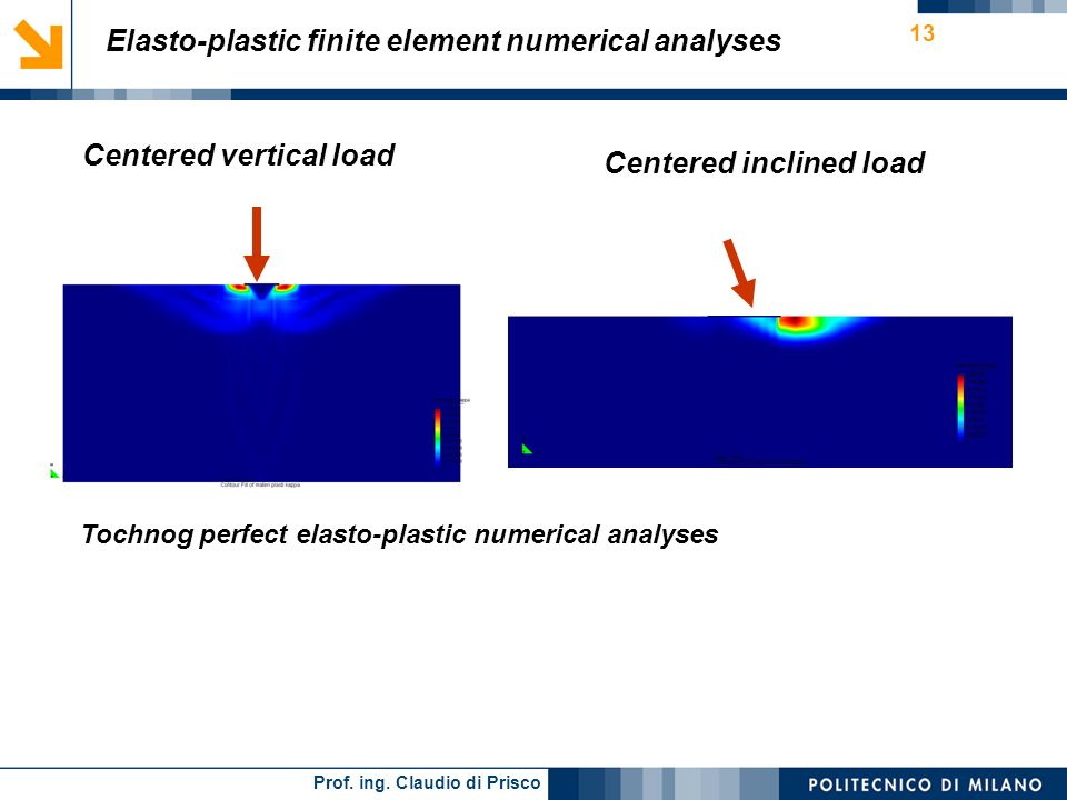 Elasto-plastic finite element numerical analyses
