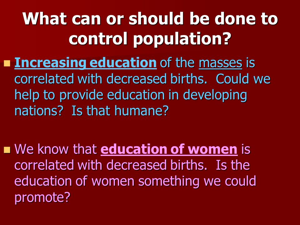 should population be controlled essay