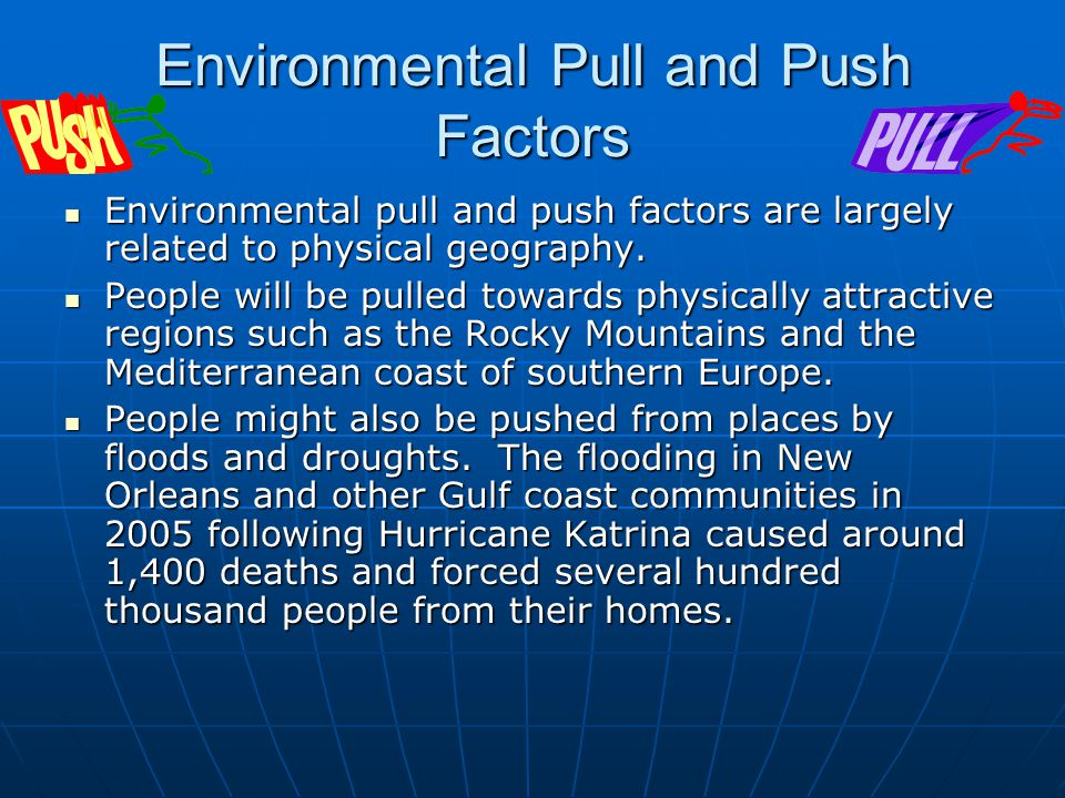 Environmental Pull and Push Factors