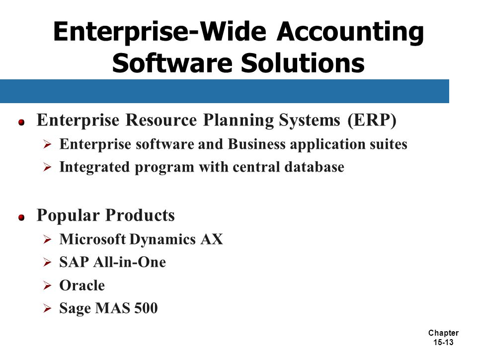 Enterprise-Wide Accounting Software Solutions