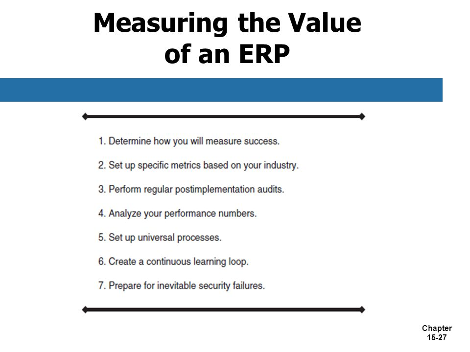 Measuring the Value of an ERP