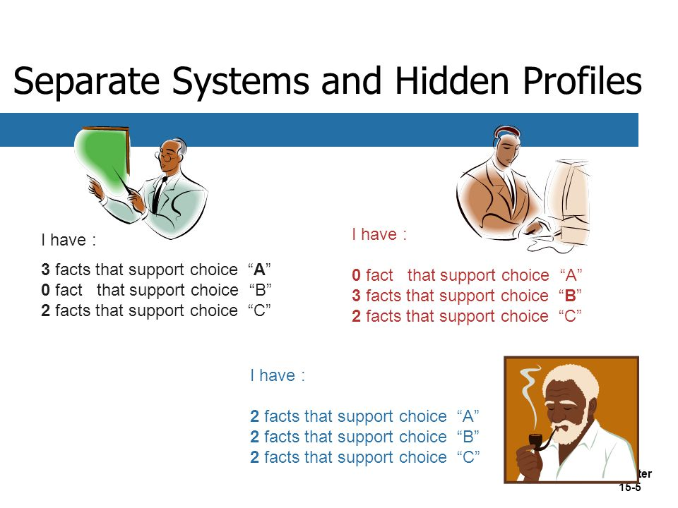 Separate Systems and Hidden Profiles