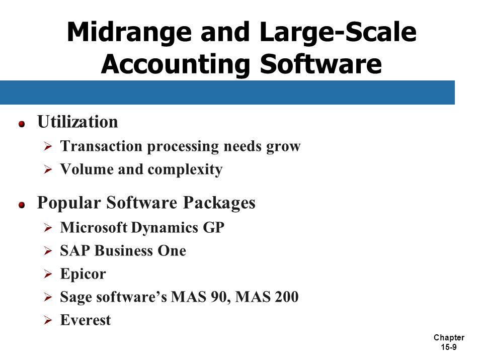 Midrange and Large-Scale Accounting Software