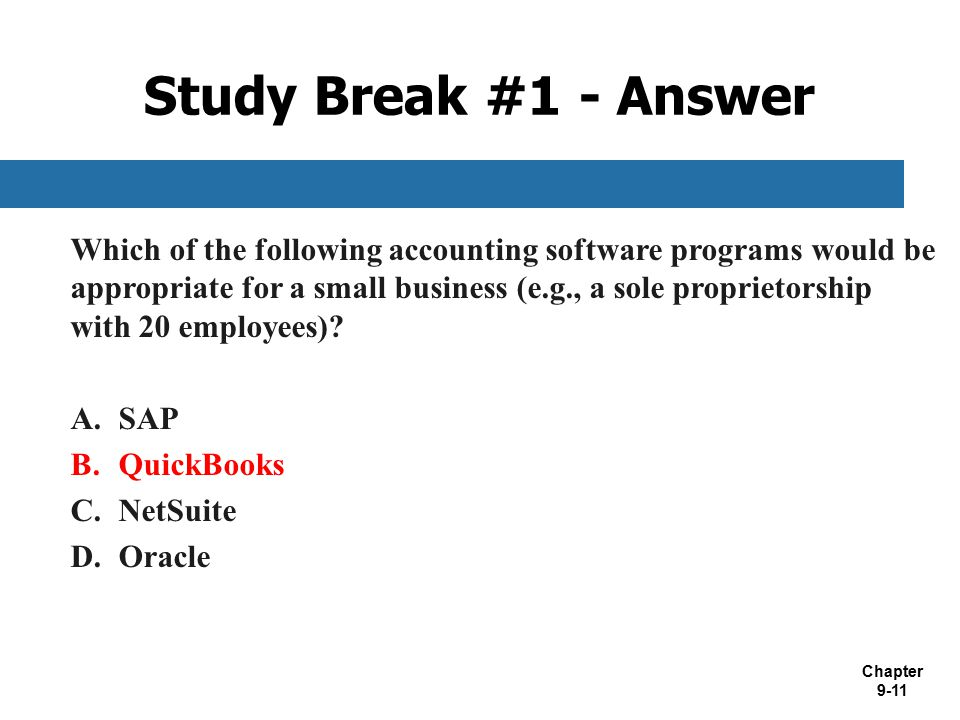 Study Break #1 - Answer