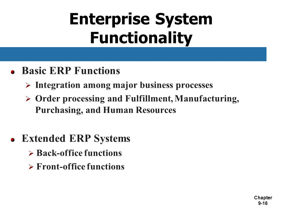 Enterprise System Functionality