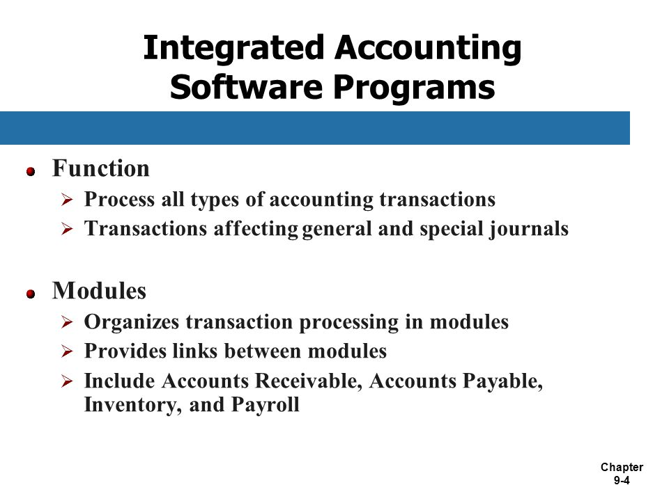 Integrated Accounting Software Programs