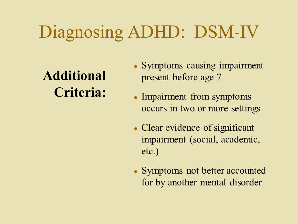 the development of attention span and diagnosing adhd Learn about the different types of attention-deficit/hyperactivity disorder and how it is diagnosed  due to a short attention span,  test to diagnose adhd.