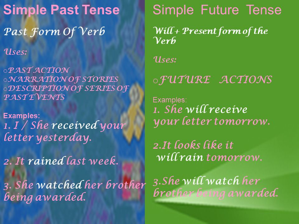 past simple tense examples pdf