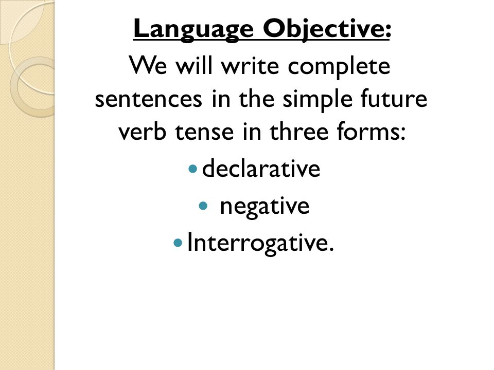 Simple Future Tense Of Verbs  Ppt Download