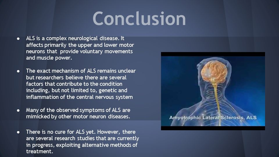 the clinical description of the amyothrophic lateral sclerosis als Amyotrophic lateral sclerosis (als) clinical research trial listings in musculoskeletal neurology pulmonary/respiratory diseases rheumatology on centerwatch.