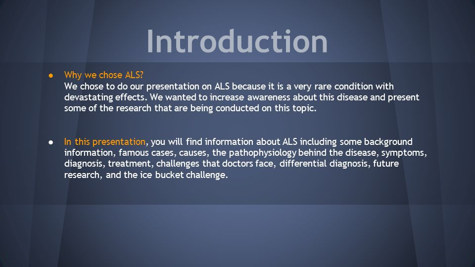 Amyotrophic Lateral Sclerosis Als Ppt Video Online