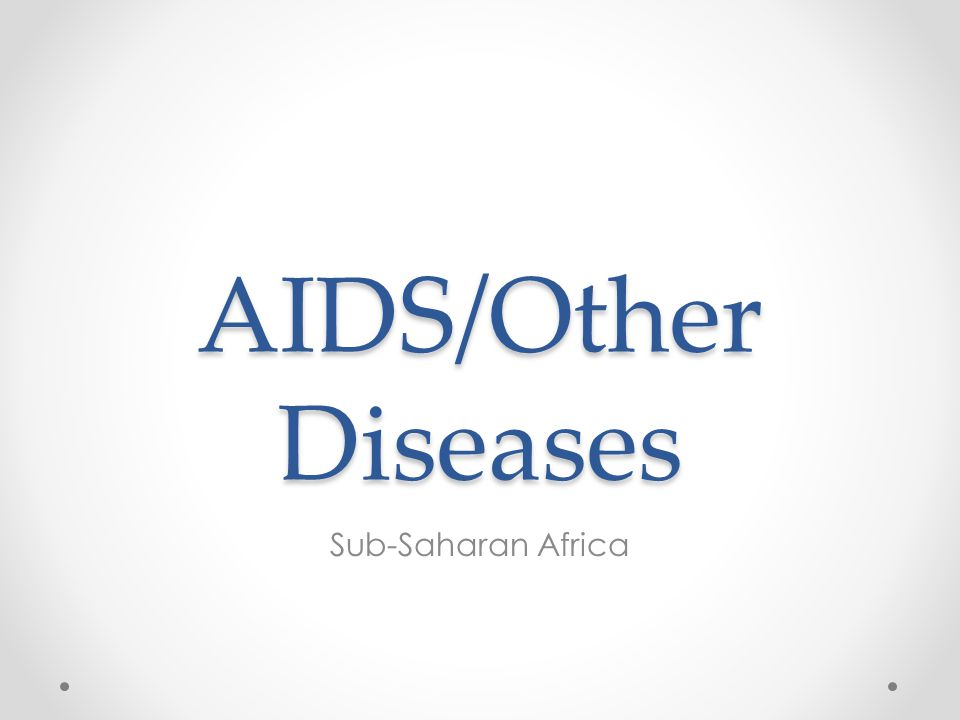 AIDS/Other Diseases Sub-Saharan Africa