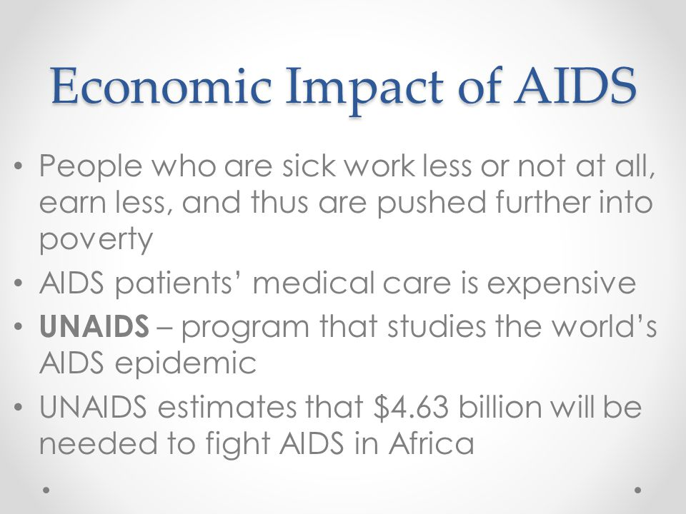 Economic Impact of AIDS