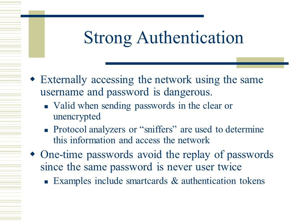 how to create strong authentication