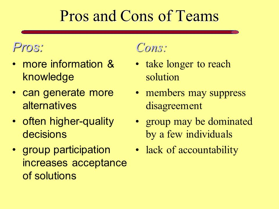 pros and cons of teamwork advantages and disadvantages of virtual team also has to undergo strict