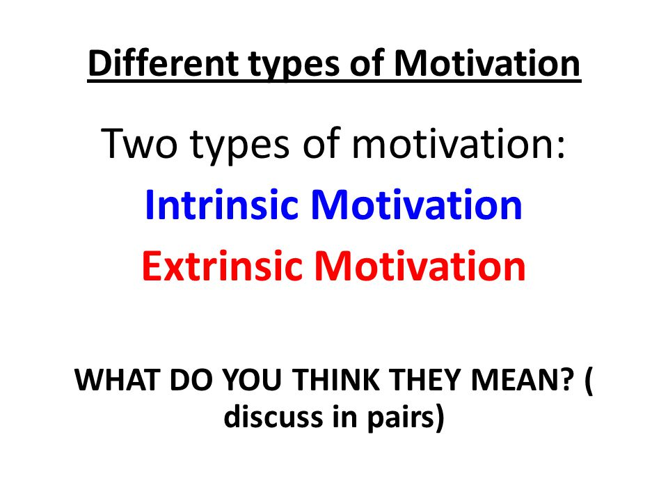 understanding the two main types of motivation intrinsic and extrinsic