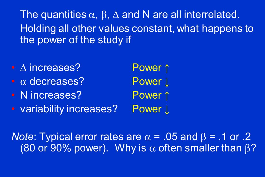 The quantities , ,  and N are all interrelated.