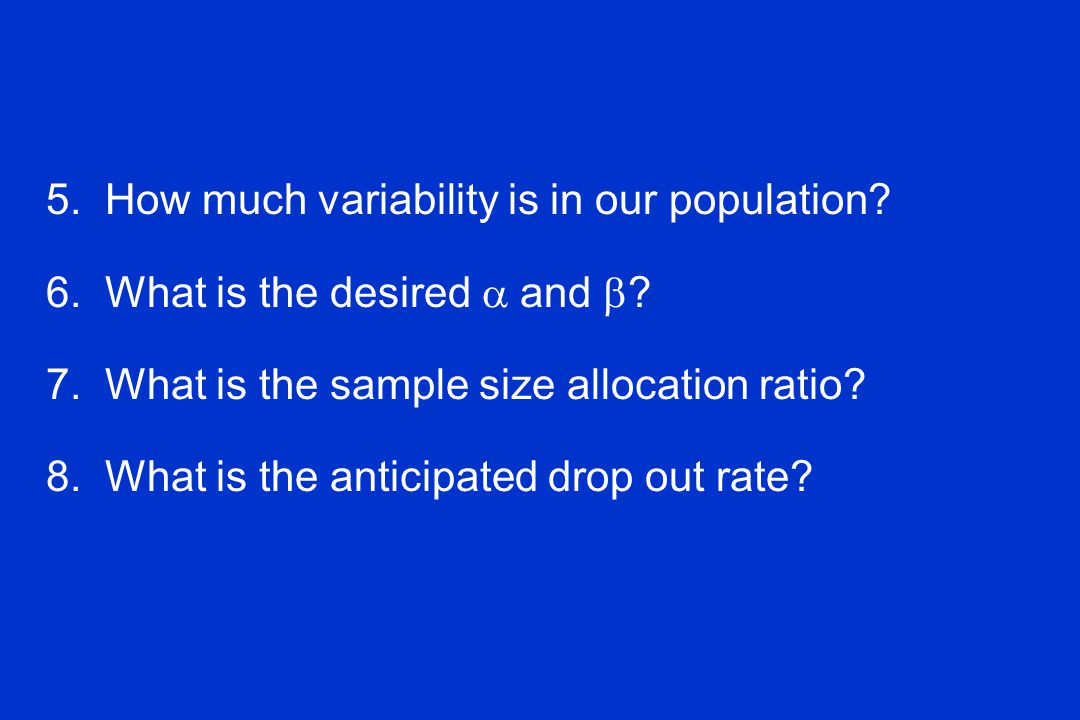 5. How much variability is in our population