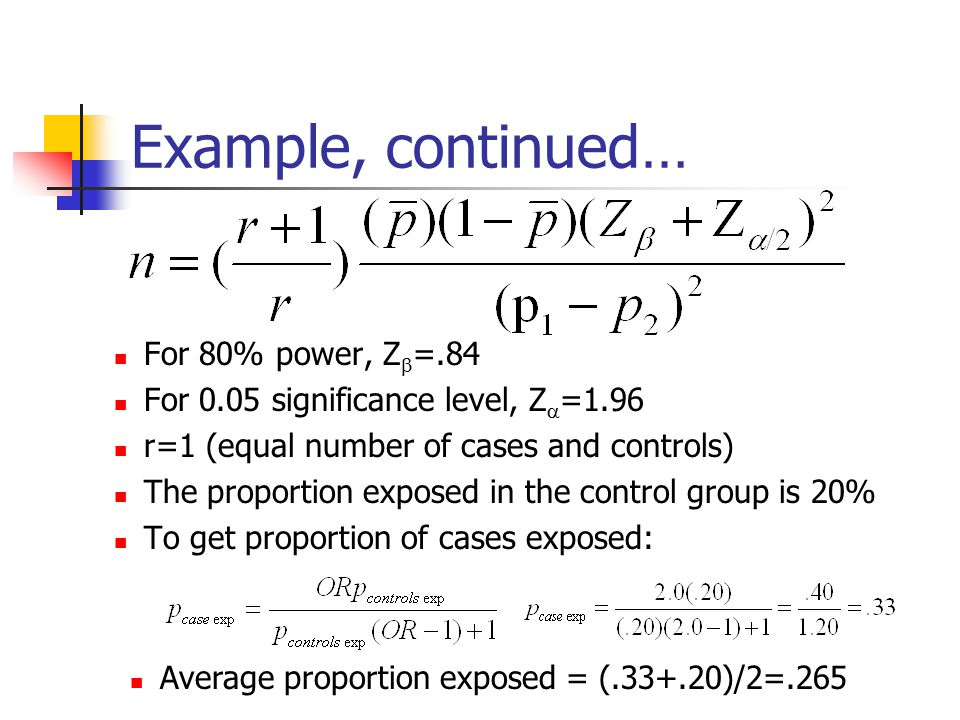 how to calculate sample size for case control study