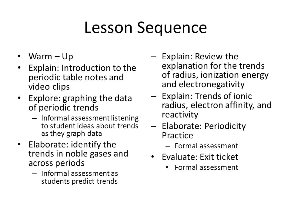 Periodic Trends Analysis Cont  ppt download