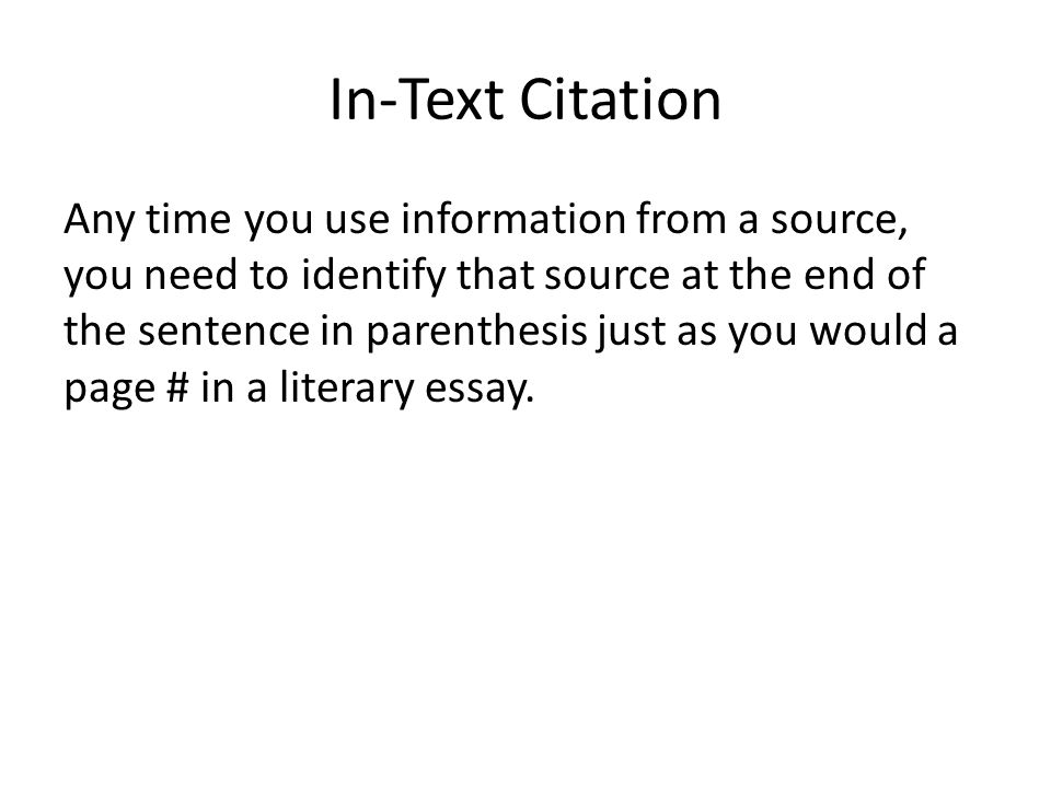 quoting paraphrasing in text citations ppt video online  5 in text citation