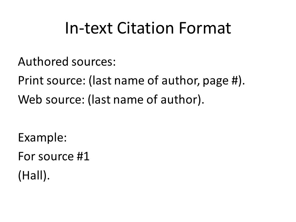Paraphrasing mla in text citation