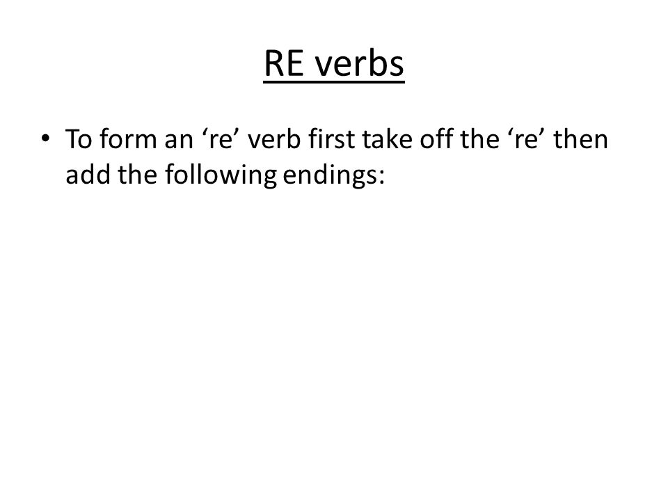 THE PRESENT TENSE OF REGULAR VERBS - ppt download