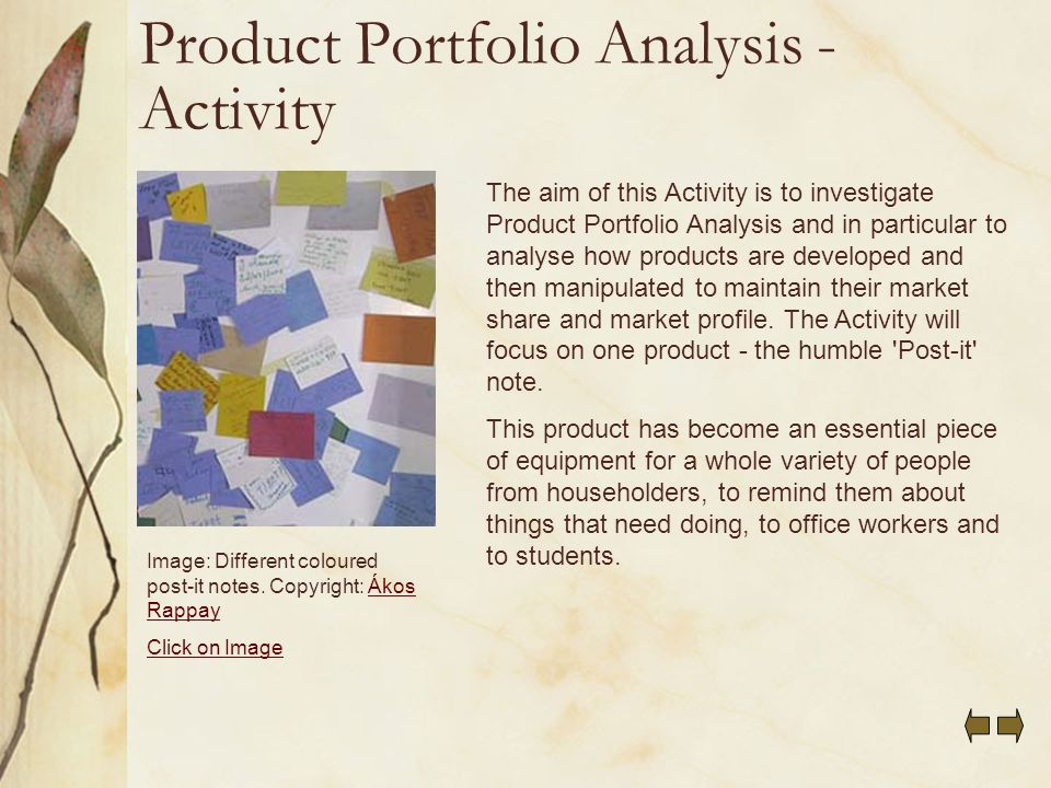 Product portfolio and demand analysis of