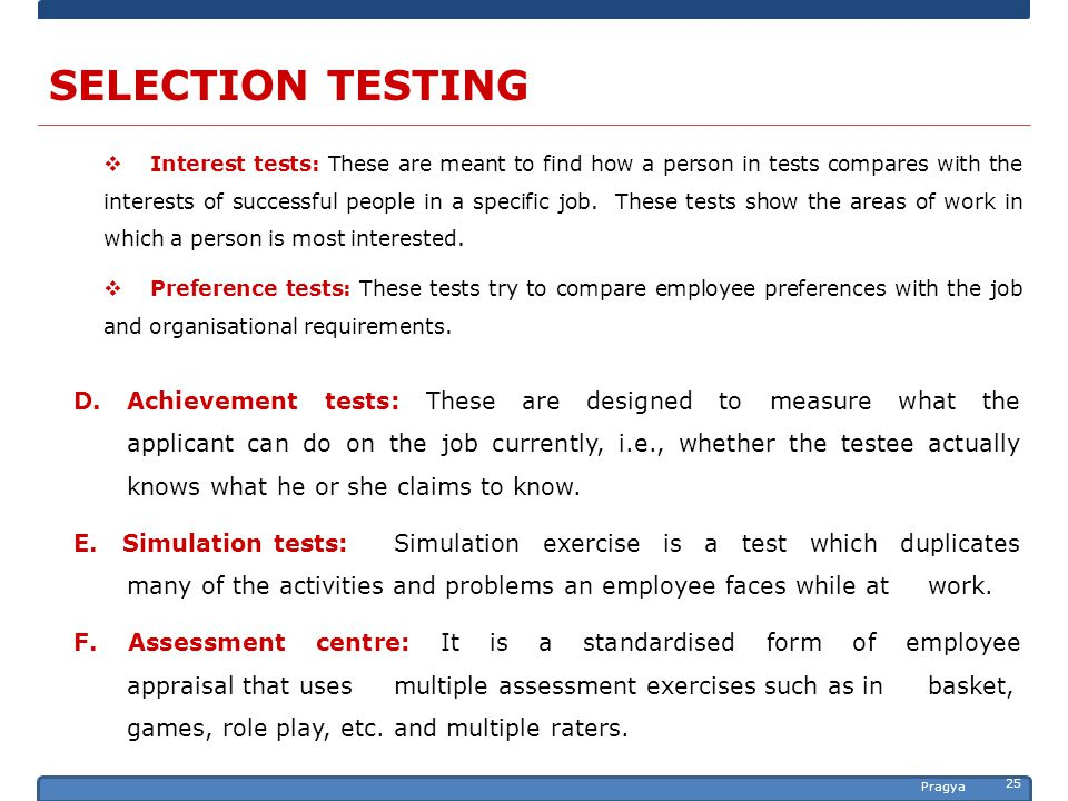 Selection Process. - ppt download