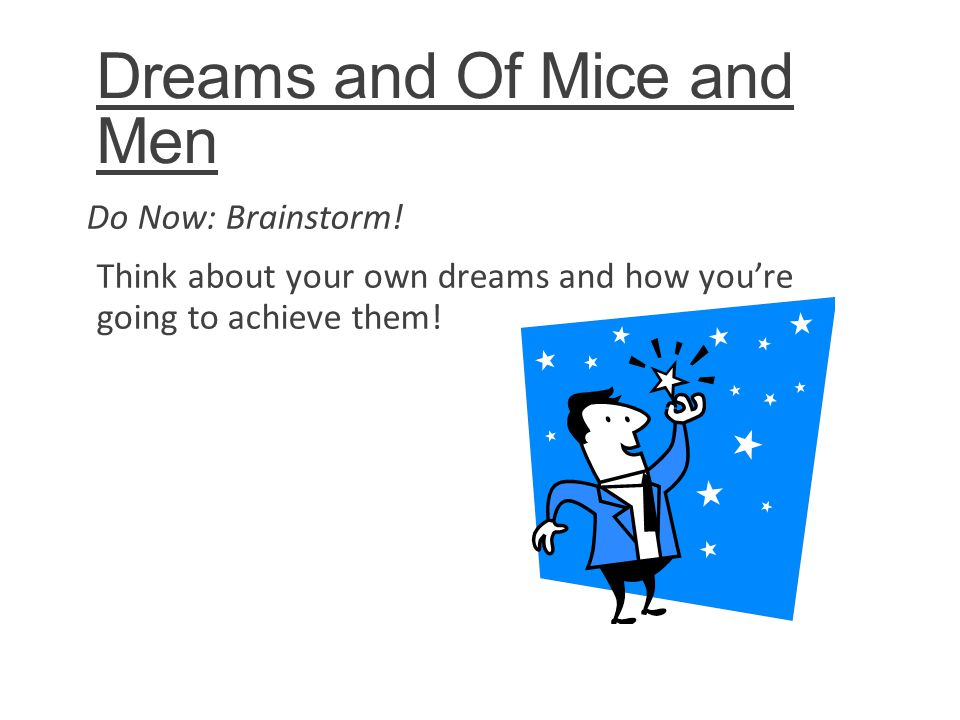 Essay of mice and men dreams