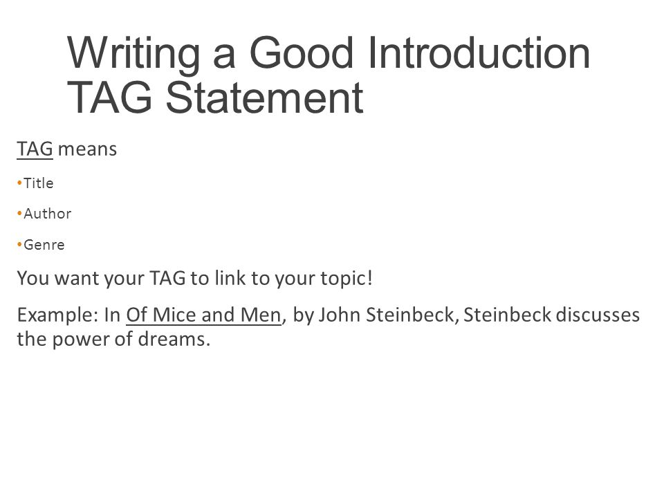dreams and of mice and men ppt video online  writing a good introduction tag statement