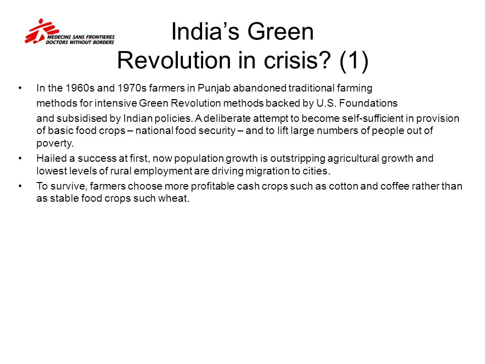 India's Green Revolution in crisis (1)