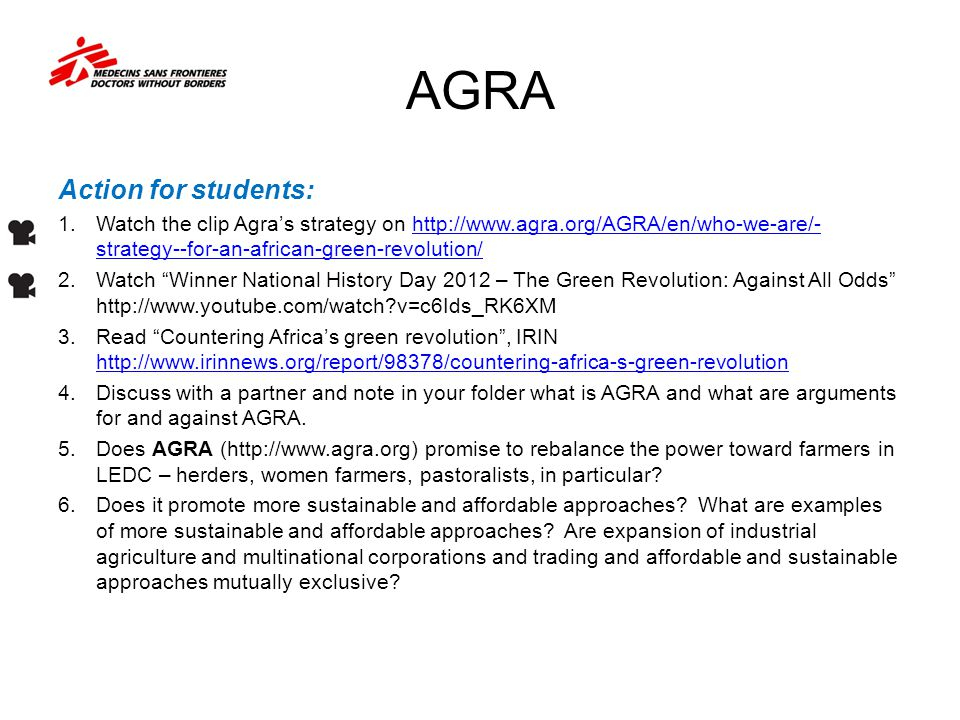 AGRA Action for students: