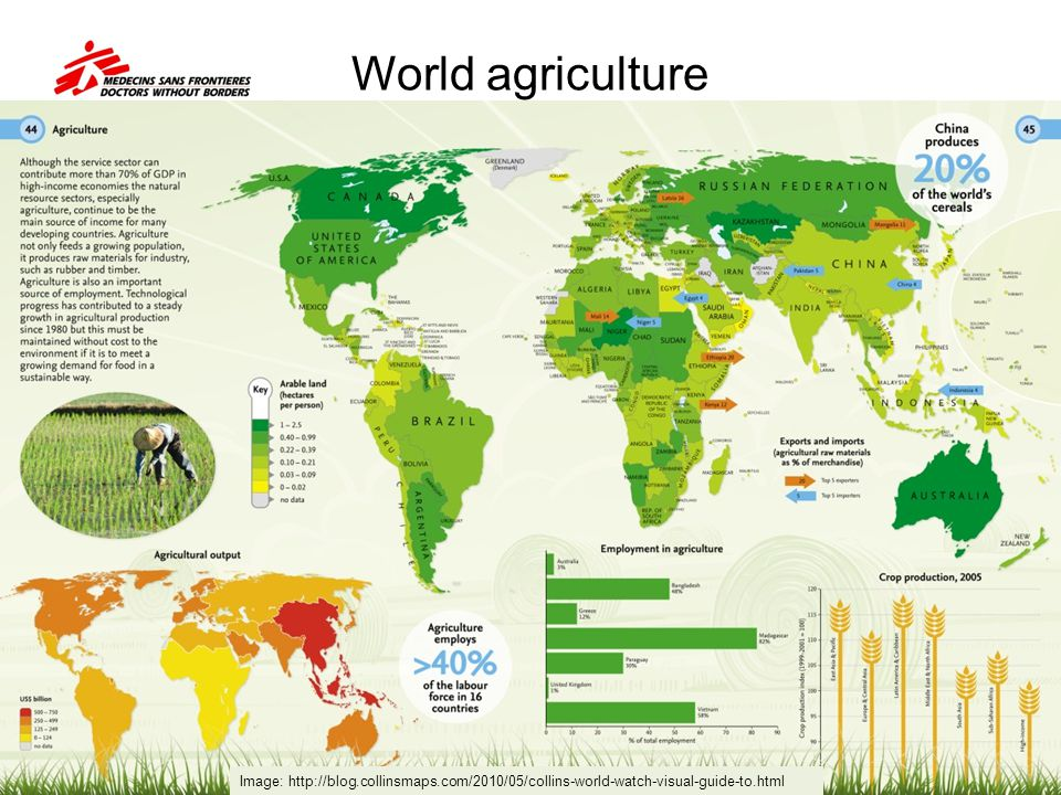 World agriculture Image: http://blog.collinsmaps.com/2010/05/collins-world-watch-visual-guide-to.html.