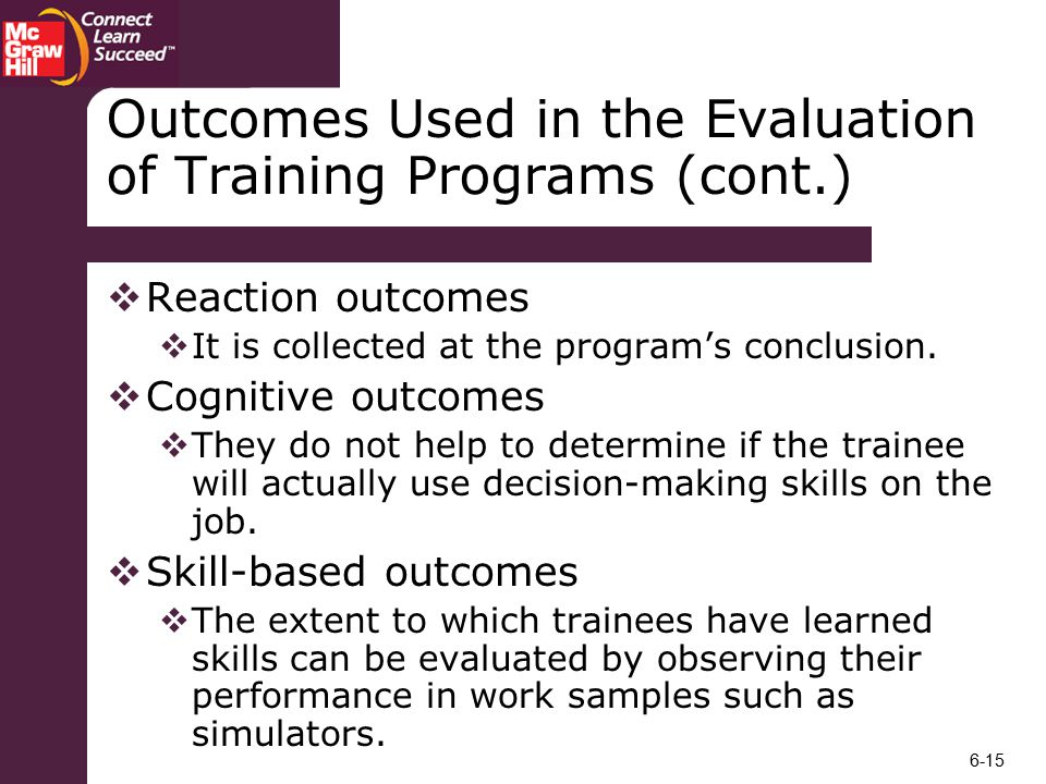 outcome evaluation of maritza s program If this was the first run of maritza's program and you conducted a formative evaluation, what would you expect the evaluation to reveal how would this help maritza for the future of her program.