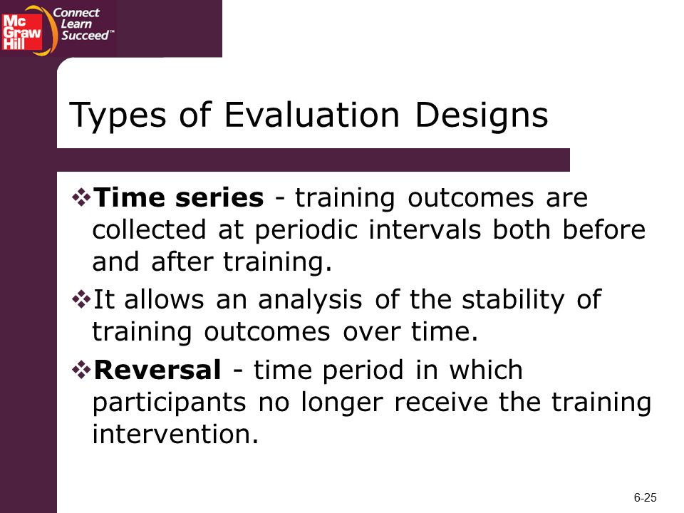 Types of Evaluation Designs