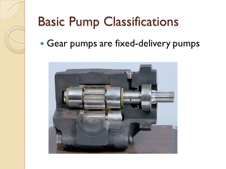 Basic Pump Classifications