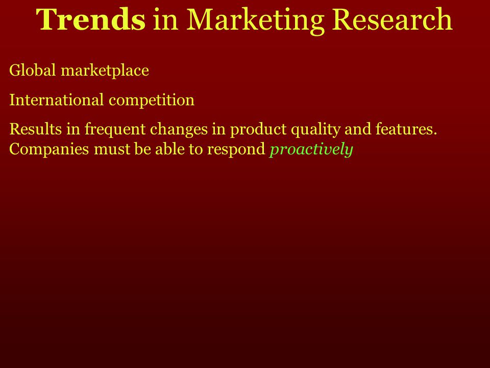 trends in marketing research pdf