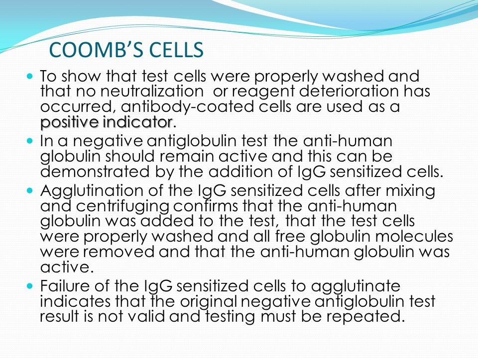 COOMB'S CELLS