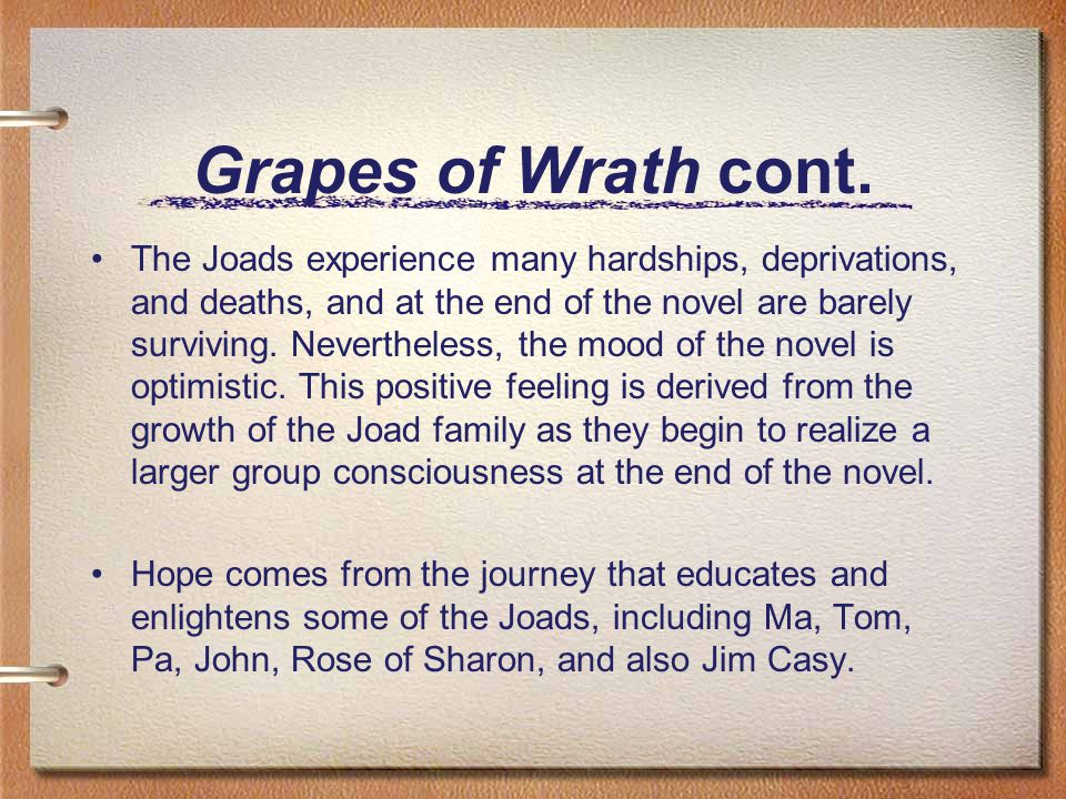 optimism in the grapes of wrath essay Struggling with the ending of the grapes of wrath don't worry, we're here to tell you what's up with it.