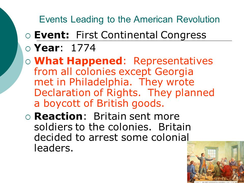 The series of events that led to the infamous american revolution