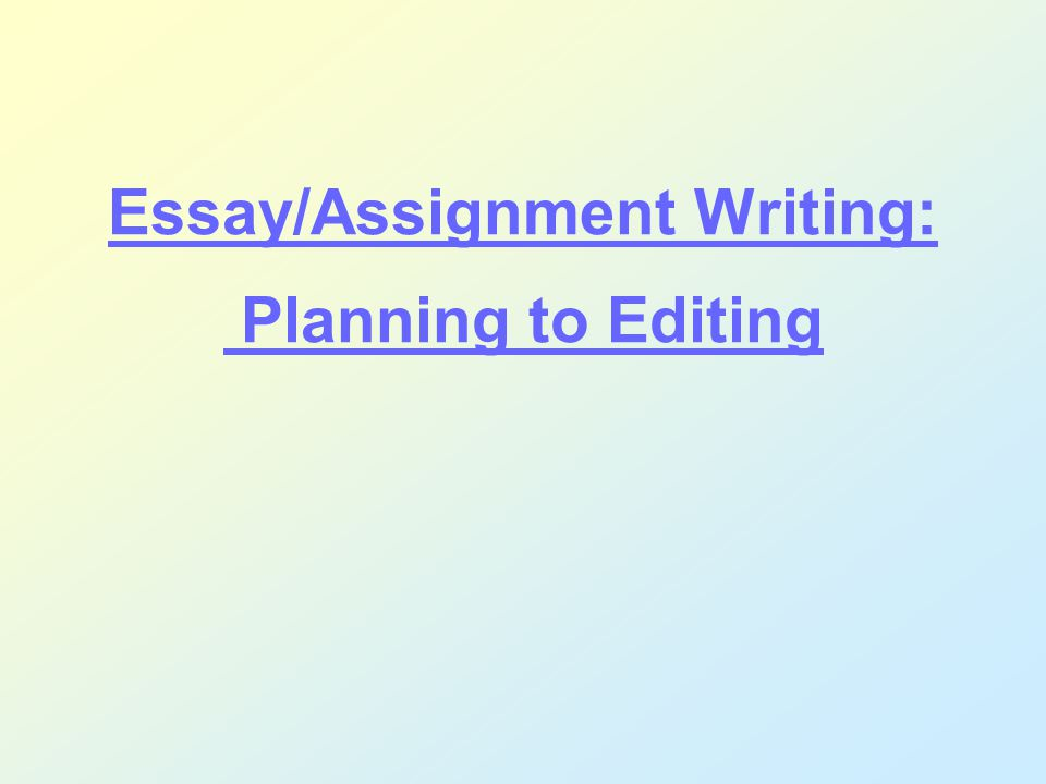 Student essay for editing