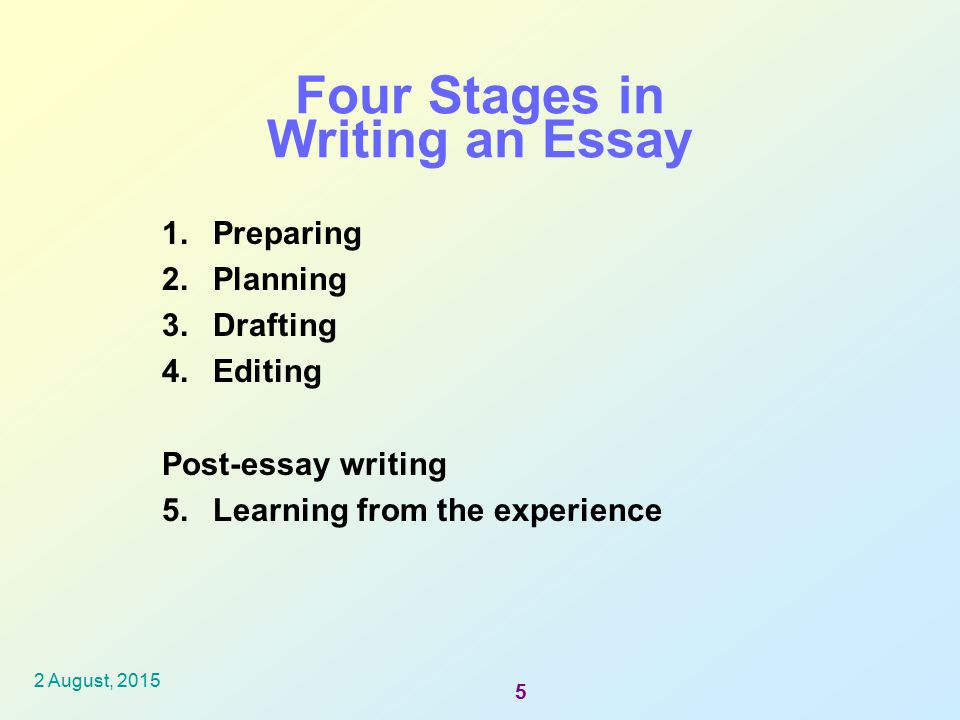 Four stages of learning essay