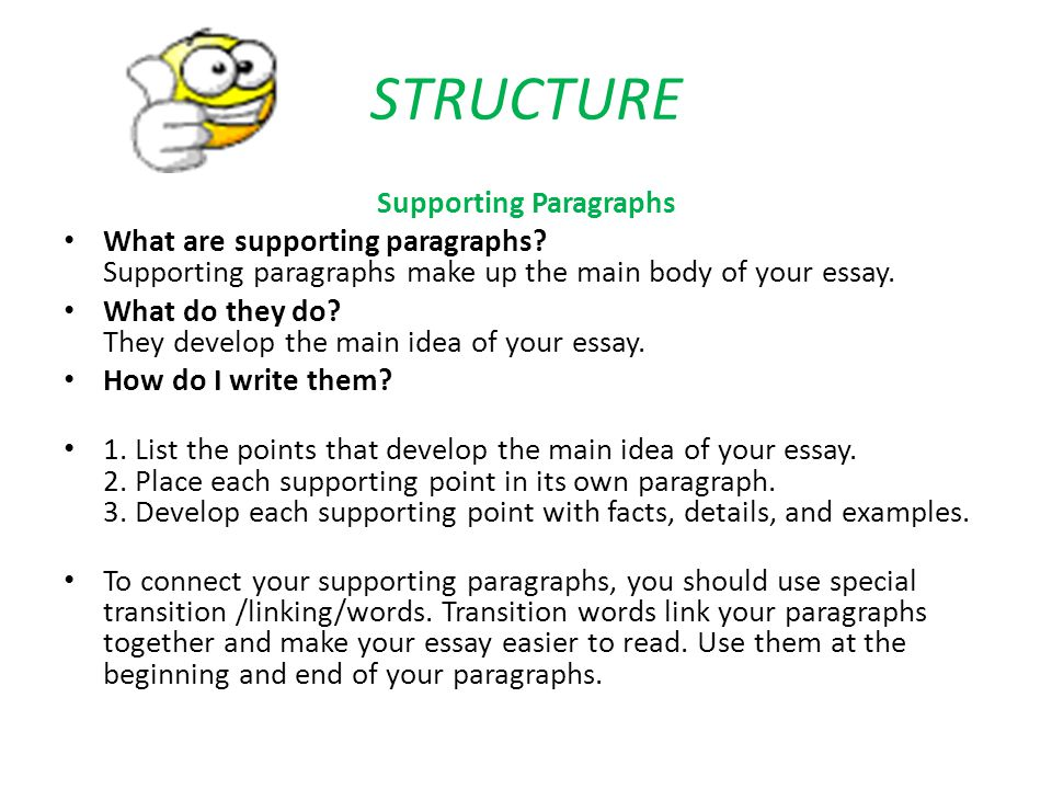 words to link essay paragraphs English composition 1  the paragraphs below are on the short story to hell  are important characteristics of a well-written paragraph and essay.