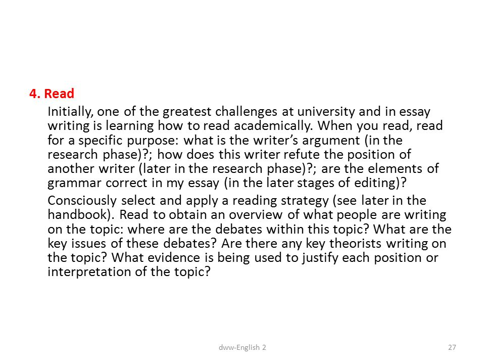 writing an english essay for university The links below provide concise advice on some fundamental elements of academic writing strategies for essay writing english grammar and language tutor.