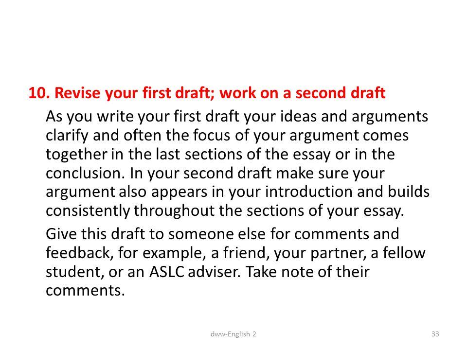 revising the college essay