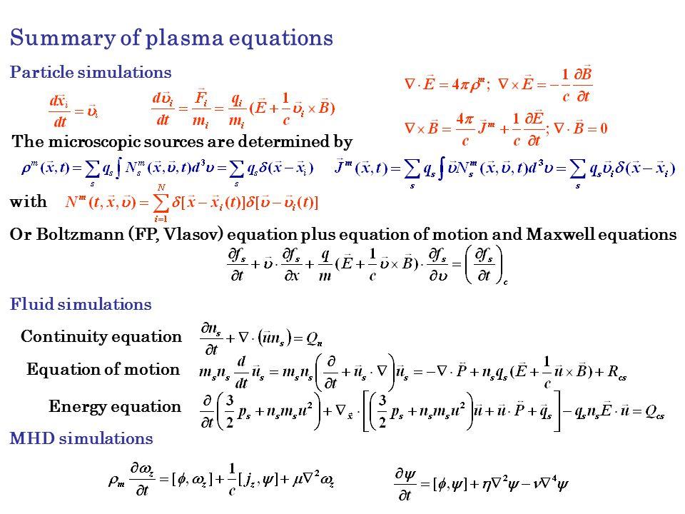 fundamentals of plasma simulation  i
