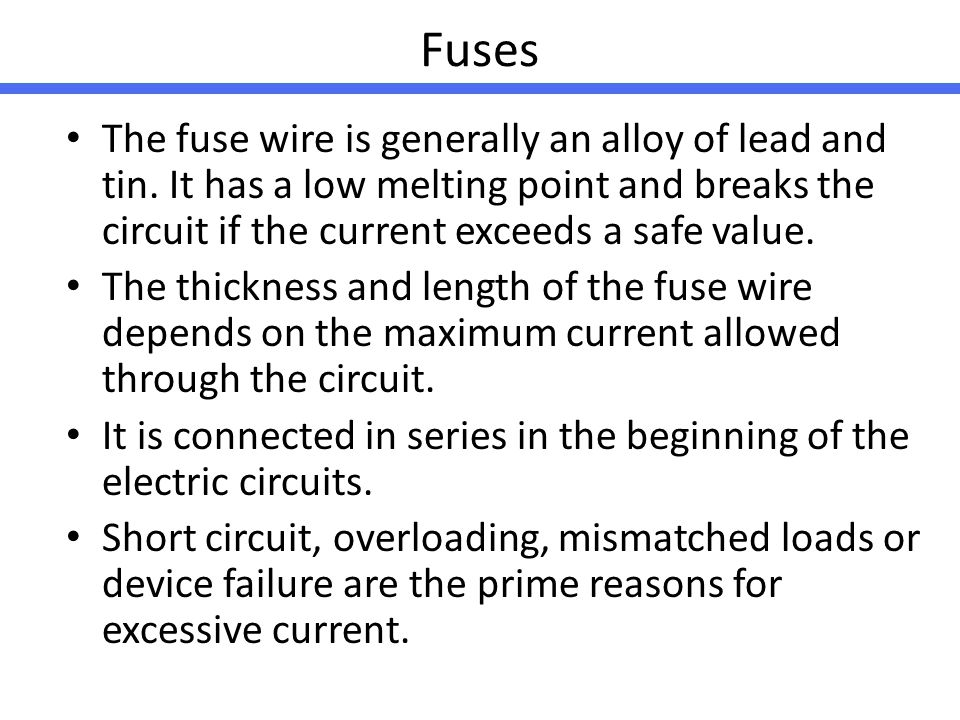 Best Fuse Wire Lead Gallery - Electrical Circuit Diagram Ideas ...